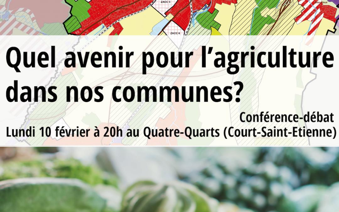 Conférence 10/2/2020: Quel avenir pour l'agriculture dans nos communes?